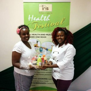 Gifting the winner with a bio foods hamper