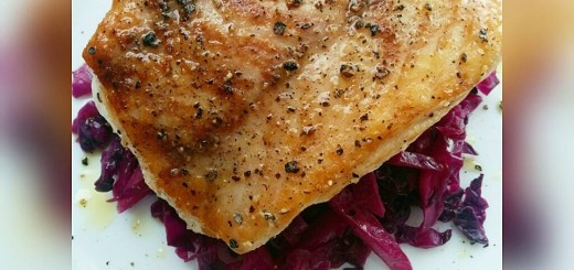 Red Snapper Fish fillet with pickled red cabbage