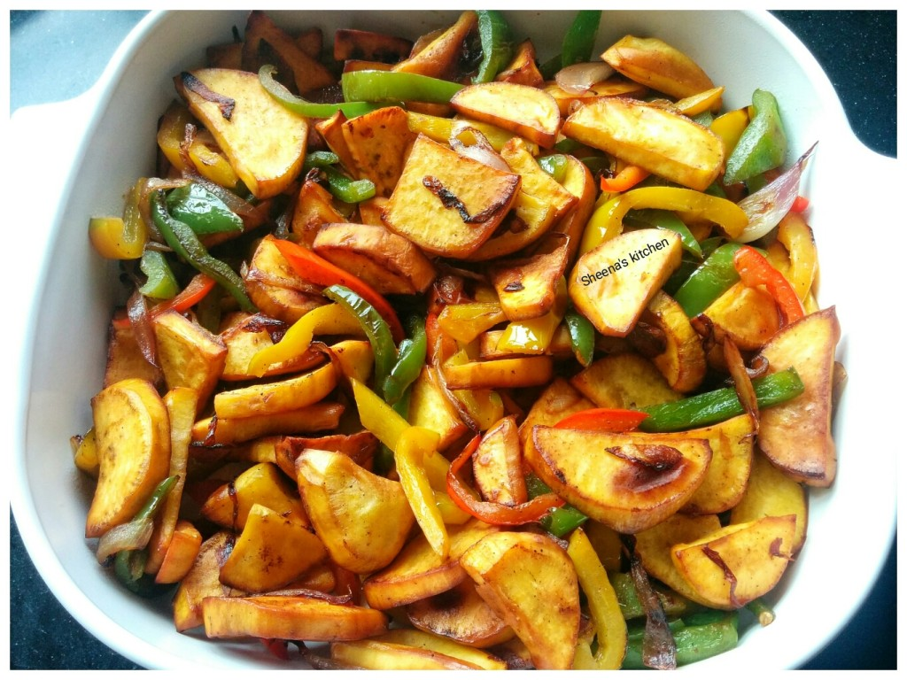 sweet potatoes with capsicums