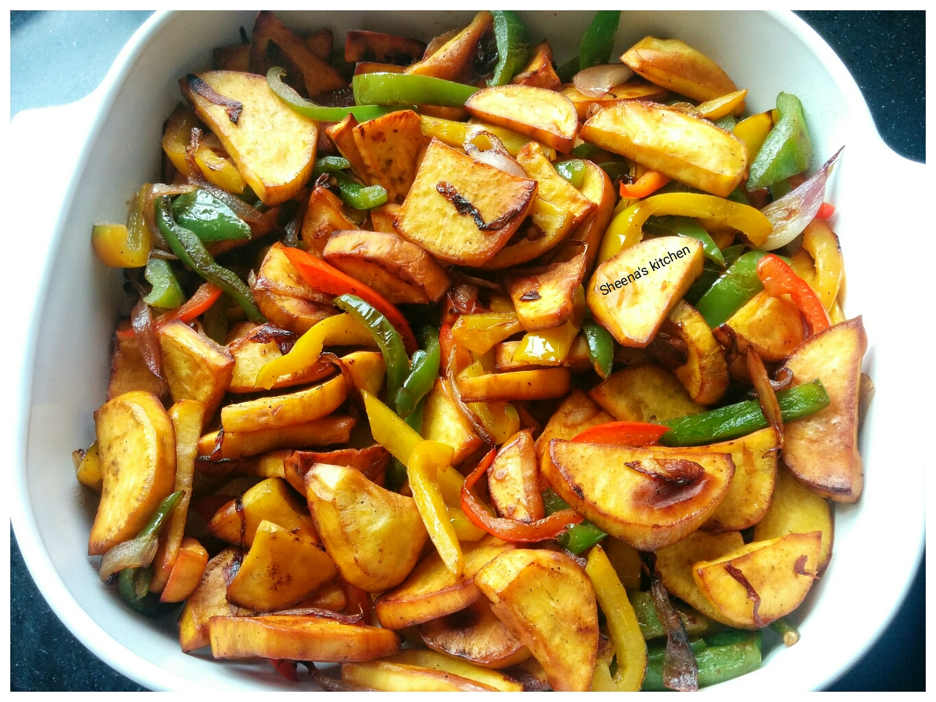 Lyonnaise Sweet Potatoes with Capsicums