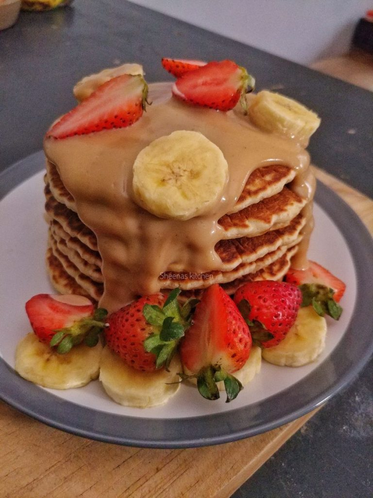 Pancakes with Peanut Butter Sauce_Sheenas Kitchen