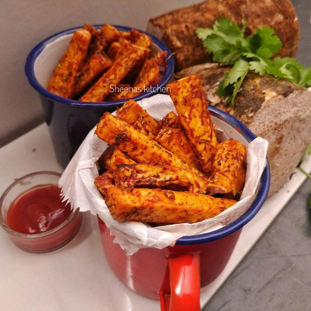 sheenas kitchen Nduma chips (arrowroot chips)