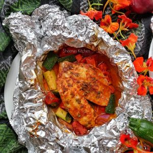 TILAPIA FOIL PACK-FOIL PACK FISH RECIPE-SHEENAS KITCHEN