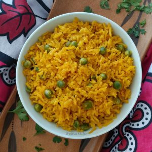 Turmeric yellow rice with peas_sheenas Kitchen