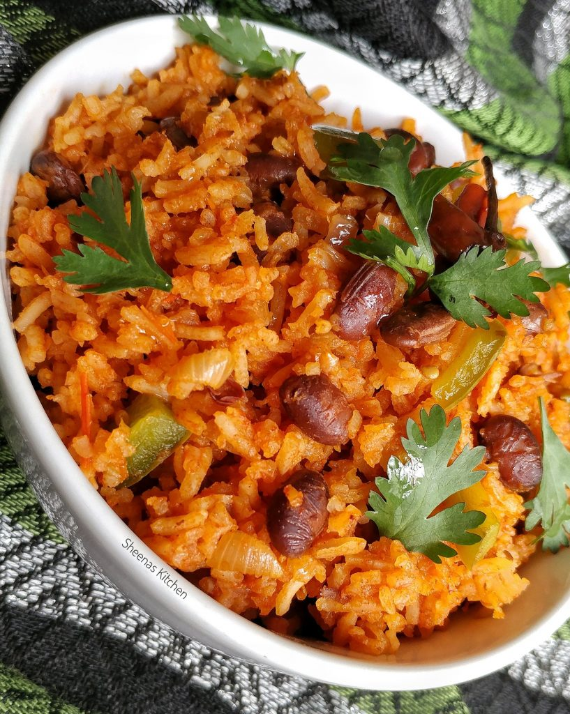 Spicy tomato rice with njahi beans_ sheenas kitchen