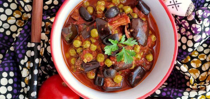 Roasted Eggplant in tomato stew-sheenas kitchen