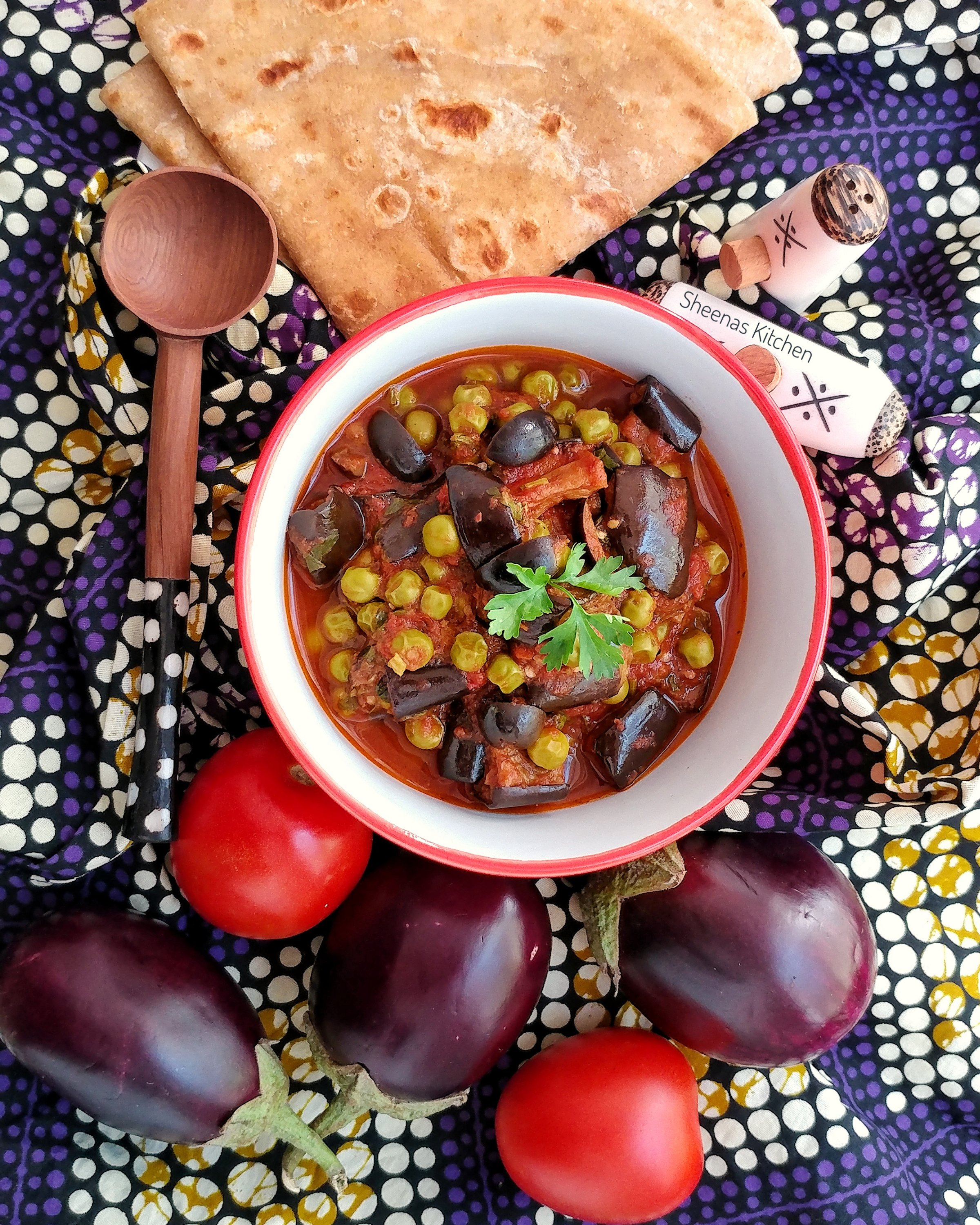 Roasted Eggplant in tomato stew-sheenas kitchen
